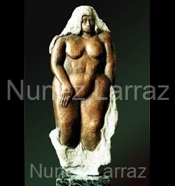 Badende dame, brons (orgineel in steatiet)