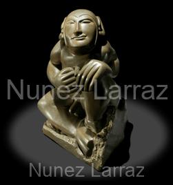 Mea culpa, brons (orgineel in opaal), 16x16x24cm