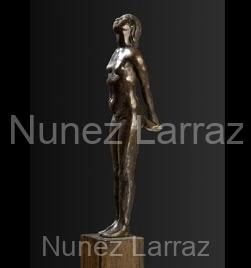Pubermeisje, brons cire perdue, 21x16x6cm