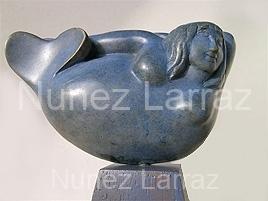 Zeemeerminnetje, steatiet (ook in brons), 12x3x7cm