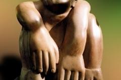 Faun, steatiet (ook in brons), 19x14x27cm