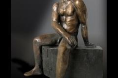 Man, brons cire perdue, 20x13x25cm